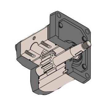 Galtech Hyd Gear Pump Group 2, PCD Flange ports 1 1:8 Taper Shaft, 4 Bolt Flange